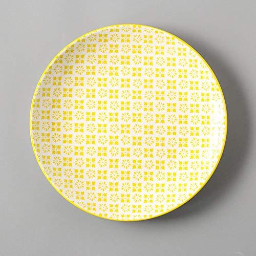 Plato de 8 Pulgadas Plato de vajilla de Porcelana conciso Vajilla de Mesa Vajilla de Conciso Pequeño Disco de Carne, Cuihua SPlate
