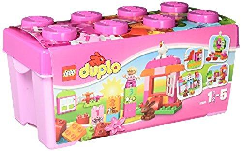 LEGO Duplo 10571 - Große Steinebox Mädchen, Spielzeug mit Lerncharakter für Babys