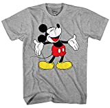 Mickey Mouse Laughing Disneyland World Funny Humor Pun Mens Adult Graphic Tee T-Shirt (Heather Grey, Large)