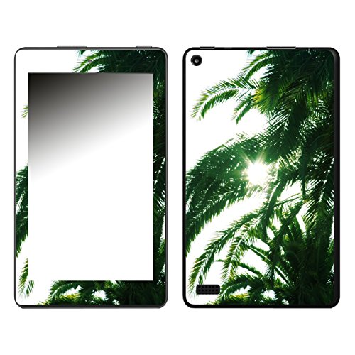 'Disagu SF 108159 _ 570 Designer Skin Clear Back Case Cover for Amazon Fire 7 (2017) Palm Tree Shade