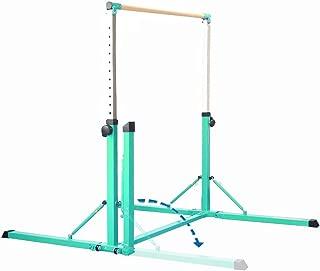 PreGymnastic Foldable & Movable Gymnastics Kip Bar/Junior Training Bar/Stainless Steel Regulating Arm & Strong Fiberglass Rail