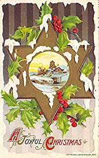 Christmas Postcard Antique Xmas Postcard John Winsch Publishing Writing on back