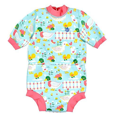 Splash About Happy Nappy Combinaison de plongée avec Couche de Bain Unisex-Baby, Little Ducks, 12-24 Mois