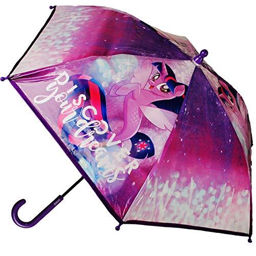 alles-meine.de GmbH Regenschirm - My Little Pony - Kinderschirm - Ø 68 cm - groß / Glockenschirm - sturmfest sturmsicher windfest - Stockschirm mit Griff - Kinder - für Mädchen -..