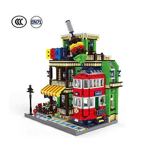 SYXX Grill Gebäude City Street View Grill Restaurant, Small Particle Building Blocks Stadt Street View, Kinder Assembled Bauklotz Spielzeug, DIY Kinder interaktives Spielzeug, Home Decoration