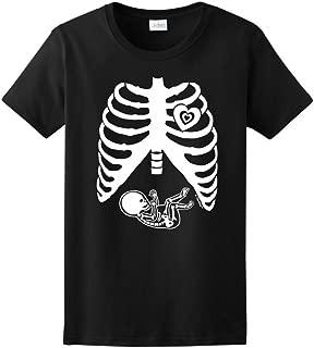 Pregnant Skeleton Baby Maternity Themed Costume Ladies T-Shirt