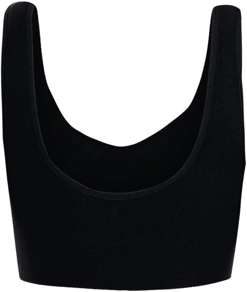 MODOQO Women's Plus Size Sports Bra Full Cup Fitness Gym Yoga Bra 5Pcs