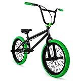 "Elite 20"" & 16"" BMX Bicycle The Stealth Freestyle Bike (20"" Black Green)"
