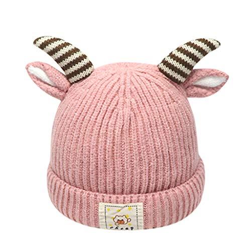 Hiver Tricoté Chapeaux Mignon Bonnet Bébé Bonnet Chapeau Casquette Bonnet Garçon pour Enfants en Style Renne Bébé Garçon Fille Noël 1-8 Ans