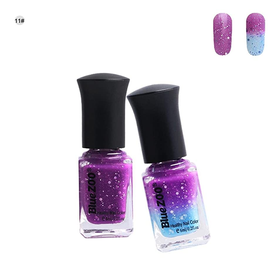 Nail Art Polish, Fheaven Thermochromic Pigment Color Change Soak Off Nail UV LED Polish Gel