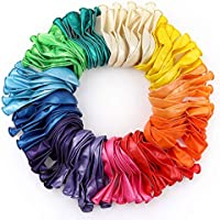 RUBFAC 120 Assorted Color Balloons 12 Inches 12 Kinds of Rainbow Party Latex Balloons, Latex Balloons for Party...