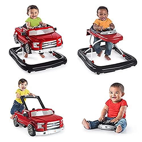 Bright Starts 3 in 1 Lauflernhilfe, Ford F-150, rot, in 3 Varianten verwendbar, 2 Kinder können gleichzeit spielen, wächst mit, ab 6 Monaten