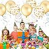 Parsion 30 Stück 12 Zoll Gold Konfetti Ballon Premium Latex Glitter Ballons für Hochzeit und Geburtstag Party Dekorationen,Graduierung,Vorschlag, Hochzeiten, Geburtstage, Valentinstag (Gold) #3