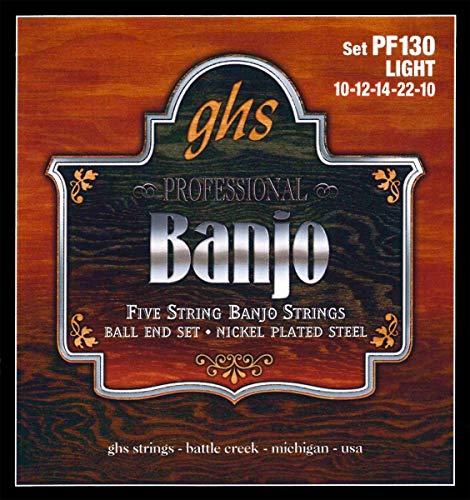 GHS PF 130Light Banjo Stainless Steel Ball End (5cuerdas)