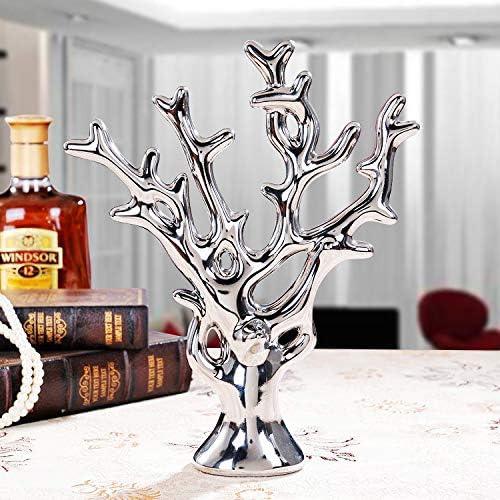 Estatua Sculpture Coral Creativas Figuras Estatua Ricos Europeos Figurilla De Árbol De Cerámica De Arte Salón Mesa Accesorios Navidad Oficina Bar ...