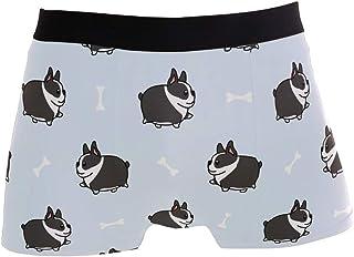 hengpai Wolf Hill Glow Sky Star Prints Men's Boxer Briefs Soft Underwear Covered Waistband Short Leg