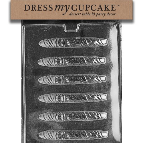 Dress My Cupcake Celebration Cigar with Band Chocolate Mold - D049 - with Molding Instructions Included