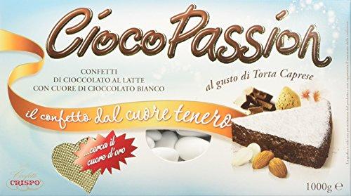 Crispo Confetti Cioco Passion Torta Caprese - Colore Bianco - 3 confezioni da 1 kg [3 kg]
