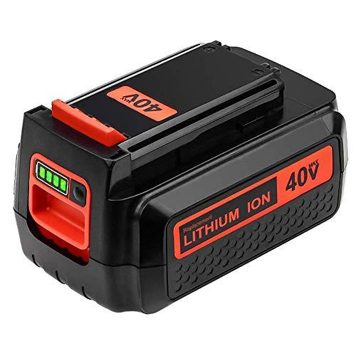 Upgraded 3000mAh 40 Volt MAX Replacement Battery for Black and Decker 40V Battery LBX2040 LBXR36 LSW36 LBXR2036 LBX2 LST540 LCS1240 LBX1540 Compatible with Black Decker 40-Volt Lithium Battery