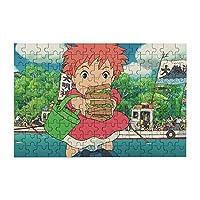 マンガ夜山のポニョ 150個のジグソーパズルミニ木製ゲーム