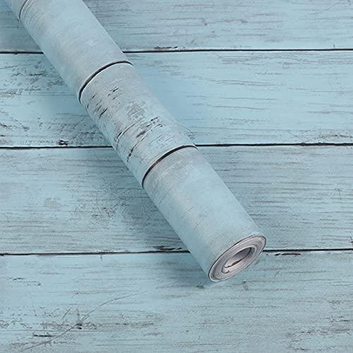 Hwtcjx vinilos madera rustica, adhesivo para encimera, 1 rollo vinilos para muebles vintage, Hecho de material de PVC, impermeable, autoadhesivo, para sala de estar, cocina (45cm x 10m, azul)