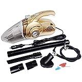 YHSFC 4-in-1-Handstaubsauger, 120W Automobil Portable Hochleistungsluftpumpe, Reifendrucküberwachung, Nass- und Trockensauger