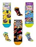 Rainbow Socks - Hombre Mujer Divertidos Sneaker Calcetines Party- 3 Pares - Flamingo Grill Disco - Talla 41-46