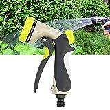 SANGSHI Gartenschlauch-Spritzpistole, 8 verstellbare Muster, Bewässerungsdüse, Hochdruck-Sprühpistole, Einstellbare Wasserpistole Gartenschlauch Sprühdüse Hochdruck