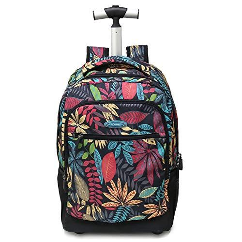 Mochila con ruedas, mochila escolar, mochila escolar, mochila multifuncional para niños, mochila escolar, maleta, portátil, viaje, escuela, negocios, para mujeres, 19 pulgadas