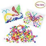 Pegboard para Niños Mushroom Nails 636 PCS Coloridos Bloques de Construcción Mosaic Puzzle Juego de Bricolaje con Tornillos Nuts Tools Juguetes de Construcción Rompecabezas para Niños 3 4 5 Años