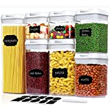 Airtight Food Storage Containers with Lids - 7 PC Set - Kitchen Pantry Organization and...