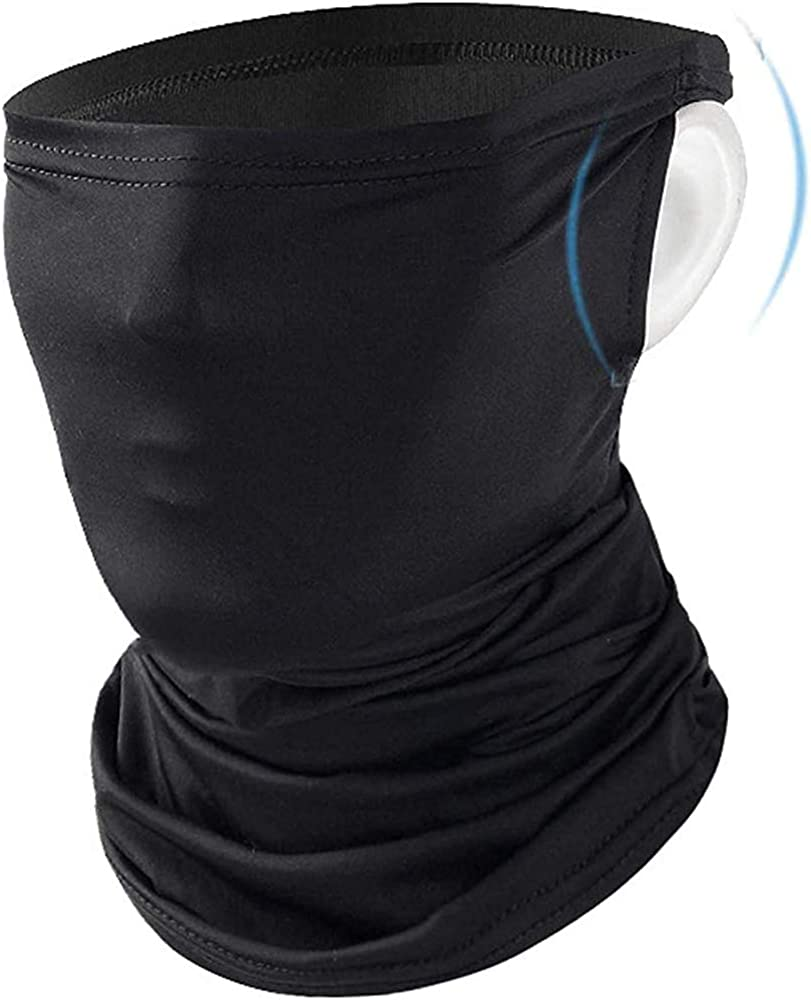 Bandana Face Masks with Ear Loops and Filter Pockets + 3PC PM2.5 Filters | Unisex Balaclava for Men Women