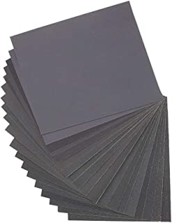Dainerisy 10pcs Sanding Paper Wet Dry Dual Use Handicraft Woodwork Automobiles Metal Plastic Polishing Sandpaper, 150 Grit