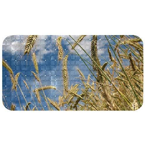 Bennigiry - Tappetino da doccia per massaggi, in PVC ecologico, per vasca da bagno, 14,7 x 26,9 cm, per cereali autunnali