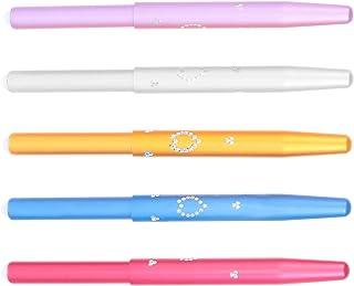 Lurrose 5Pcs Escovas Lábio Lábio Duplo Efeito Escova Concealer Brushes Retrátil Batom Aplicadores Brushes Eyeshadow Fundaç...