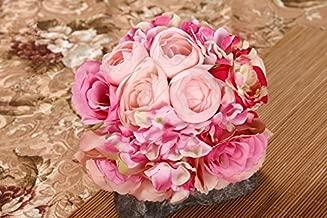Ramo flores de seda decoración del hogar, caliente venta de novia de flores rosas peonía hortensias boda decoración