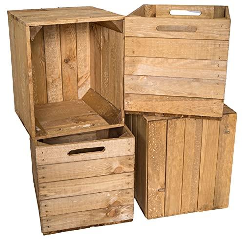Juego de 4 cajas de madera con cajones para guardar y guardar las estanterías KallaxSystem Kallax-Systeme Kallax-Systeme (33 x 38 x 32,5 cm)