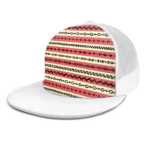 Gorra de béisbol Resumen étnico Tribal Stripe Border...