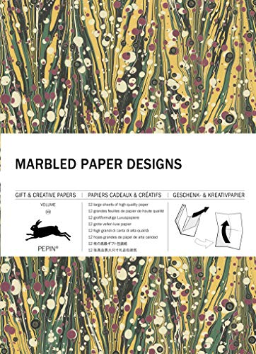 Marbled Paper Designs: Gift & Creative Paper Book Vol. 102 (Gift & creative papers, 102)