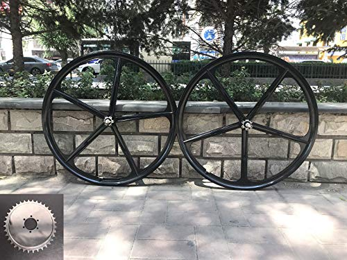 "29"" Mag Wheel Set/ 700c Magnesium Wheels/Black/Disc Brake and Caliper Brake - for Beach Cruisers, MTB's, and Gas Powered Bicycles"