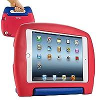 KHOMO iPad Mini 4子供用ショック防止ケース、レッド&ブルー