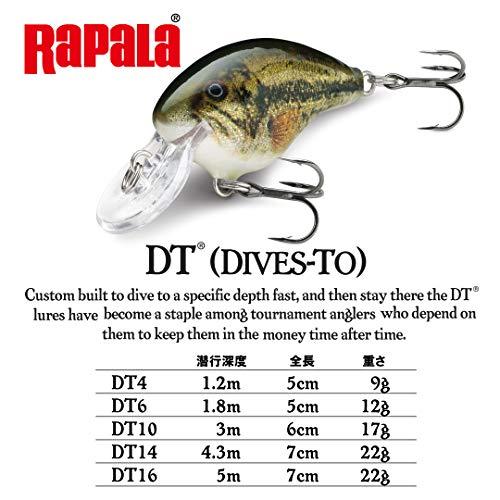 Rapala(ラパラ) クランクベイト DT ダイブストゥ 5cm 9g デルタ DEL DT4-DEL ルアー