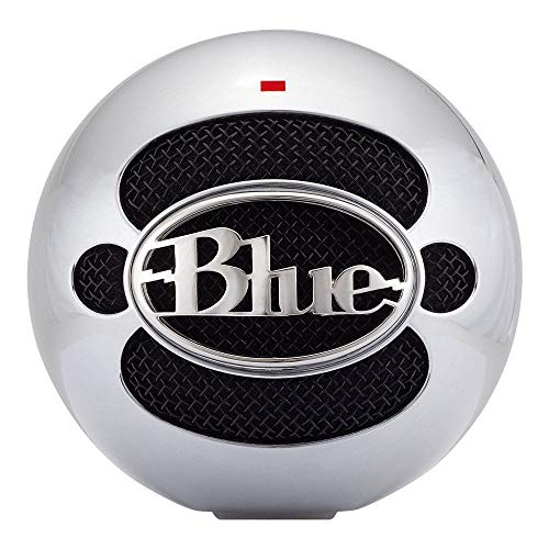 (Renewed) Blue Snowball USB Microphone - Stand Not Included - Brushed Aluminum