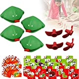 Quick Tongue Game, Interactive Catch Bugs Game Tongue Game Funny Desktop Games Board Games for Kids Adults Family Party Be Quick to Lick Cards Toy Set (4PCS)
