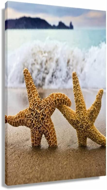 Starfish Hand In Interesting Max 57% OFF Scenery Art Posters Room Free shipping Canva
