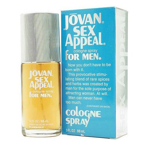 Jovan Sex Appeal for Men, Cologne Spray 3 fl oz