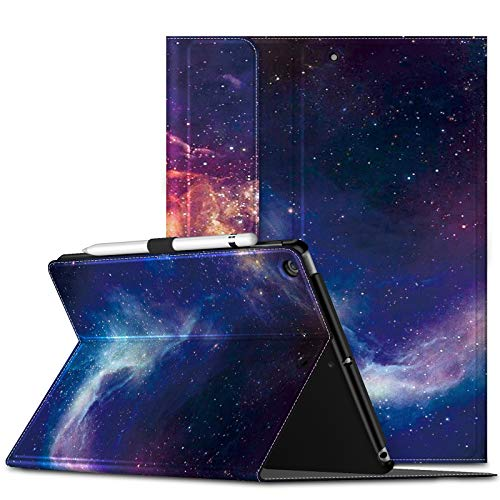 INFILAND iPad 10.2 Inch 2020/2019(8th/7th Generation) Case,Shockproof Leather Stand Lightweight Protector Supports,Smart Premium Cover with Auto Sleep/Wake for ipad 2020/2019 10.2 Inch,Galaxy