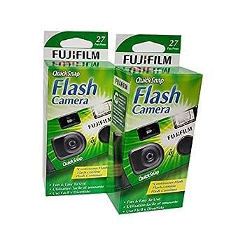 Fujifilm QuickSnap Flash 400 Disposable 35mm Camera  Pack of 2