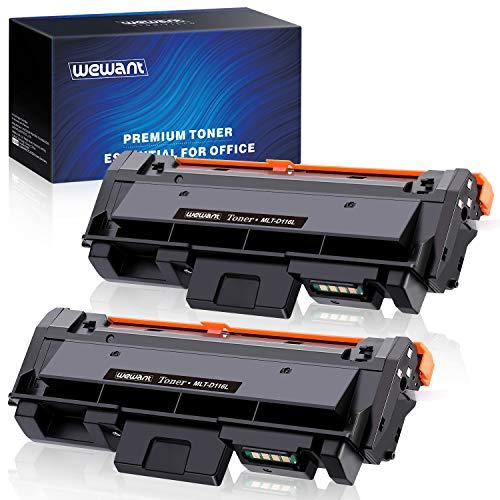 Wewant Toner D116L D116S Ersatz für Samsung MLT-D116L Tonerkartusche Kompatibel mit Samsung SL M2825 M2825ND M2825DW M2835DW M2675 M2625 M2626 M2676 M2826 M2826ND M2875 M2876, 2 Schwarz