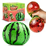 YoYa Toys Beadeez Watermelon Stress Relief Ball - Anxiety Relief Squeezing Squishy Balls for Kids and Adults - Funny Fidget Sensory Toy Changes Color When You Squeeze It - Unique Hand Therapy Ball